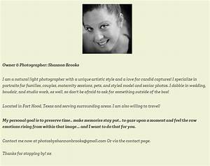 learn how to write a photography bio page digital camera With photography bio template