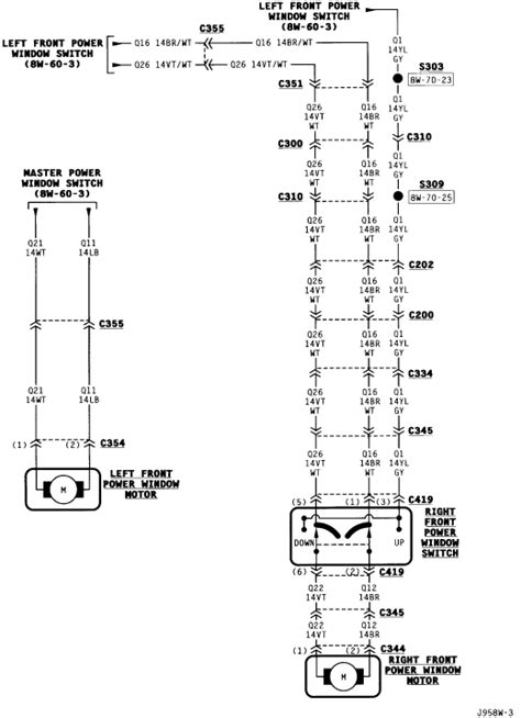 Need Wiring Diagram For The Driver Side Power Window