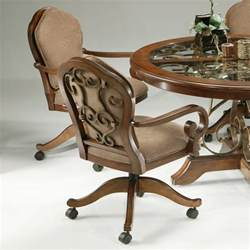 Chromcraft Dining Chairs Casters by Kitchen Astounding Kitchen Chairs With Wheels Ideas