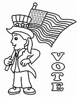 Coloring Pages Election Printable Voting Getcolorings Printables Depic Depicting sketch template