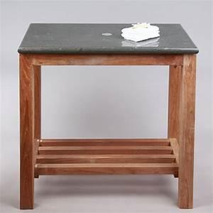 Waschtisch Bad Holz : teak holz waschtisch mit natursteinplatte 80x50x76cm bei wohnfreuden kaufen ~ Sanjose-hotels-ca.com Haus und Dekorationen