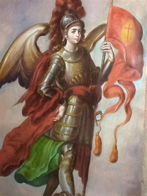 san miguel arcangel arte sacro pintura  en