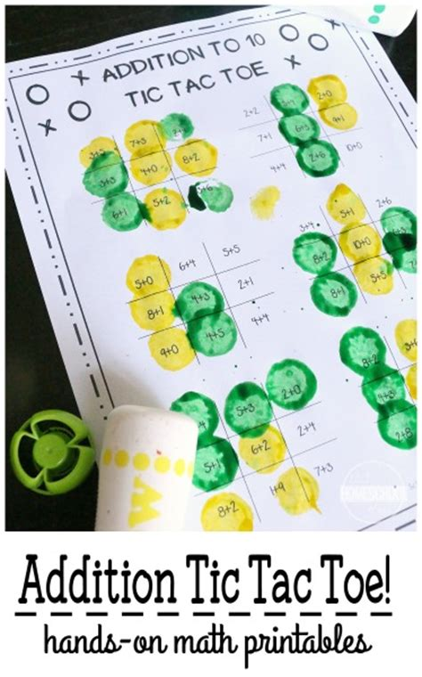 printable math addition games for first grade free addition tic tac toe math games