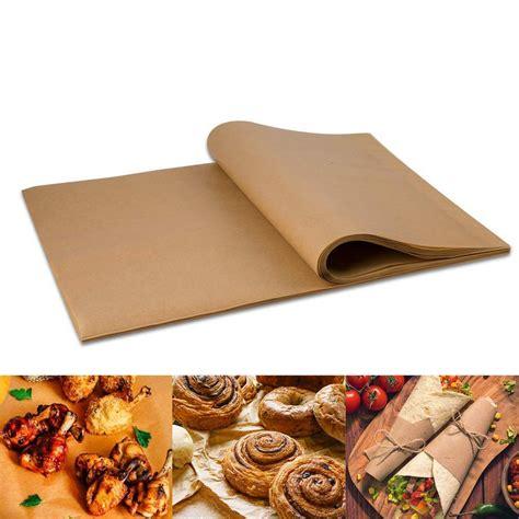 paper wax cook baking grill sheets 100pcs pans liners precut steam stick non air