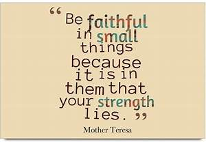 iMerch faithful... Small Mother Quotes