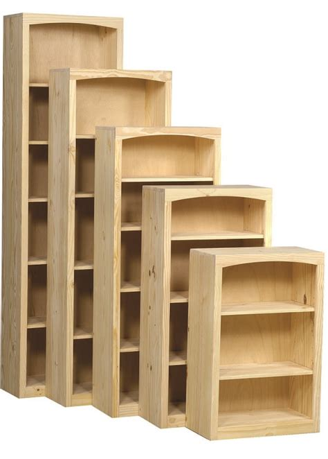Pine Bookcases Furniture by 24 Quot Wide Pine Bookcases Stark Wood Unfinished Furniture