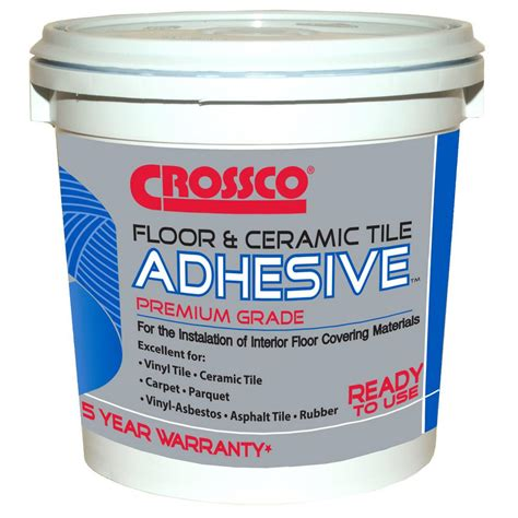 home depot flooring adhesive crossco 1 gal floor and ceramic tile adhesive ad160 4 the home depot