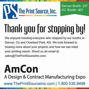 thanks for visiting spring amcon expos the print source With thank you letter for visiting trade show booth