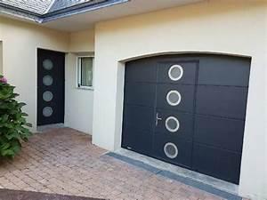realisations gypass portes de garage et portails pour With porte de garage avec porte d entrée