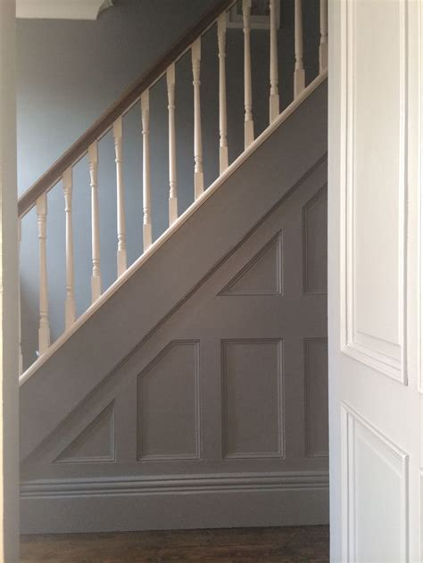 panelling  farrow ball plummett stairs