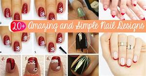 20 amazing and simple nail designs you can easily do at With easy cute nail designs at home