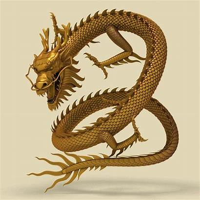 Dragon Chinese 3d Japanese Models Gold Turbosquid