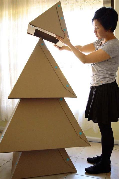 building a xmas tree box diy cardboard tree 2015 tree decorating ideas 2015