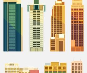 city buildings paper cut creative vector  vector