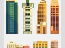City buildings paper cut creative vector 01 Vector
