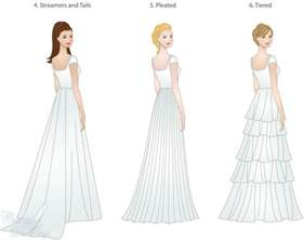 wedding dress skirt types shapes overlays and textures lds wedding planner - Types Of Wedding Dresses