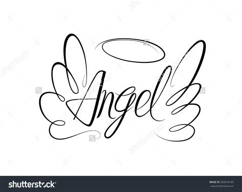 angel clipart word pencil   color angel clipart word