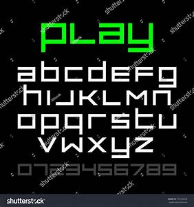 old style video game font alphabet stock vector 378189238 With letters and numbers game