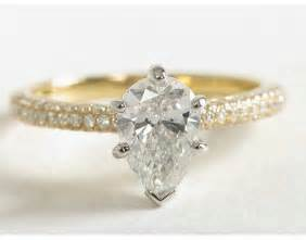 gold shaped engagement ring yellow gold pear shaped engagement rings wedding and bridal inspiration