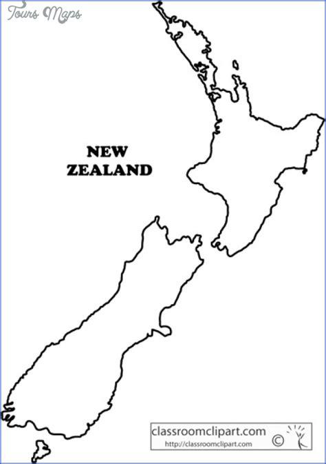 zealand outline map toursmapscom
