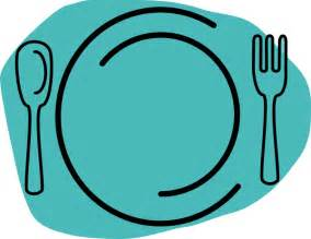 Plate and Silverware Clip Art
