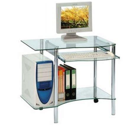 meuble bureau verre bureau informatique moderne verre 4016