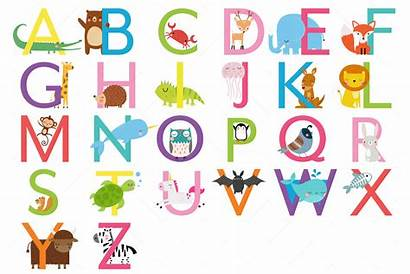 Alphabet Animal Letters Clipart Uppercase Letter Graphic
