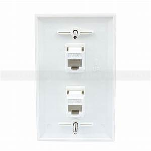 Ethernet Network Cat5e Wall Plate