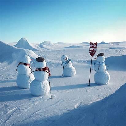 Winter Greetings Fun Seasons Snowman Snow Funny
