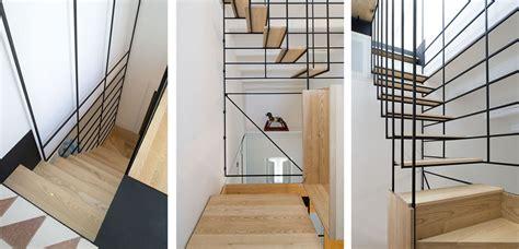 stylish staircase   metal framework  wooden