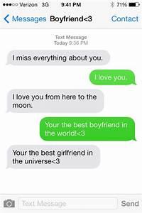 Cutest freaking text message boyfriend to girlfriend! # ...