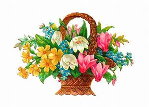 Antique Images: Free Flower Basket Clip Art: 2 Wicket ...