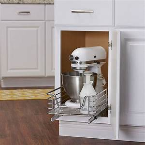 12, inch, wide, sliding, cabinet, organizer, in, pull, out, baskets