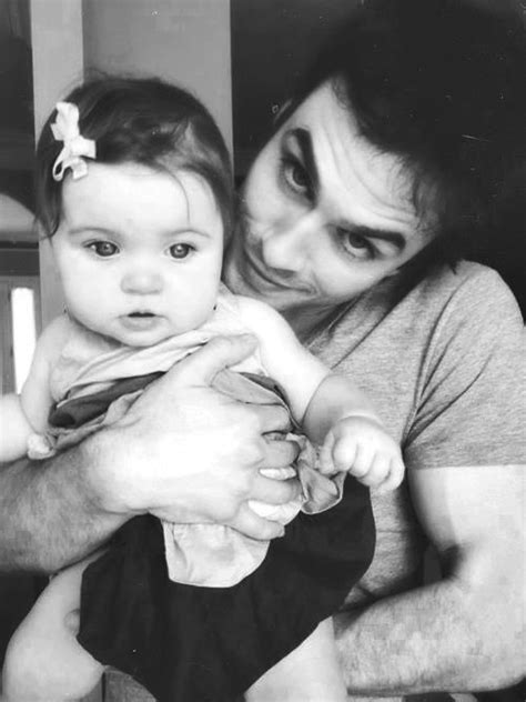 Ian Somerhalder with a baby. Just let this picture do it's