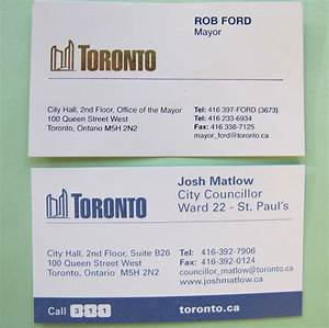 Ford outsources business cards to his familys firm toronto star for Toronto business card