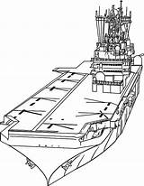 Carrier Aircraft Coloring Ship Drawing Naval Template Sheet Sketch Coloringsky Getdrawings Templates sketch template