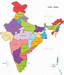 India States Map and Outline   India map, India world map ...