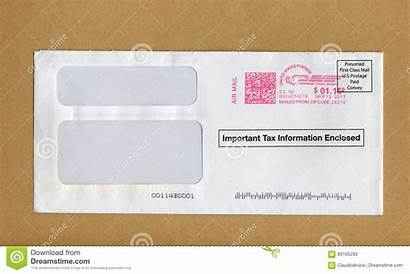 Mail Letter Envelope Important Usa Editorial