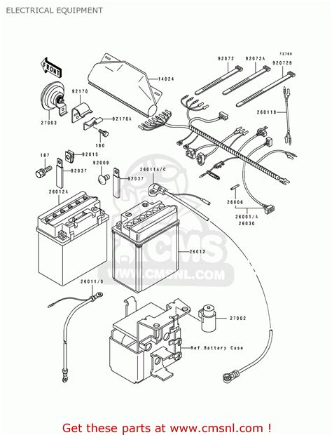 kawasaki 1990 c2 klf300 electrical equipment schematic