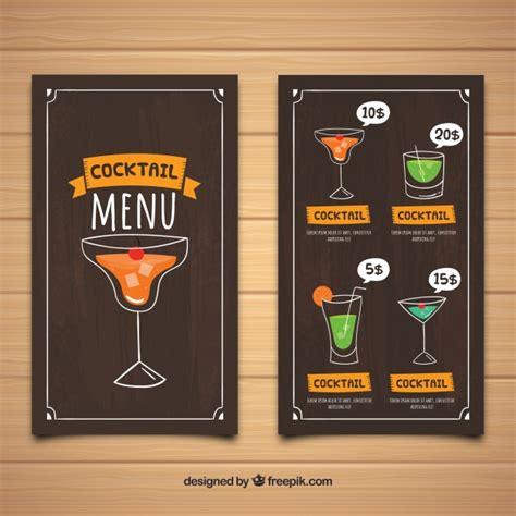 Fabelhaft vorlagen 3d stift kostenlos für sie. Dunkle cocktailkarte vorlage   Kostenlose Vektor