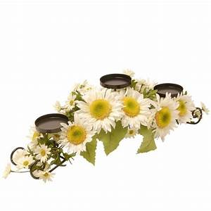national tree company 25 in w white sunflower candle With kitchen colors with white cabinets with metal tree candle holder centerpiece