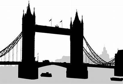 Bridge Silhouette London Svg Tower Clipart Commons