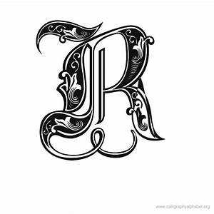 gothic calligraphy R - as an alternative to using a double ...