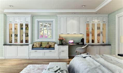wall units contemporary bedroom los angeles by