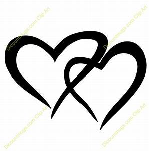 Image Gallery joined hearts clip art
