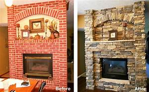 Fireplace Remodels Before And After Airstone : Home