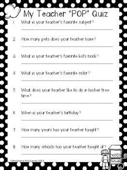 pop quiz      activity ice breaker