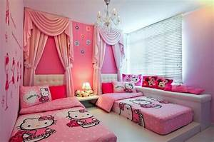 [For Girls Only] Lovely Hello Kitty Bedroom Decoration ...