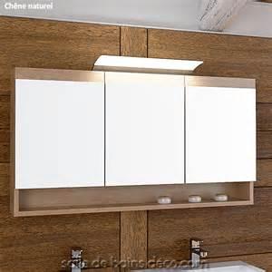 armoire de salle de bain porte miroir meuble suspendu