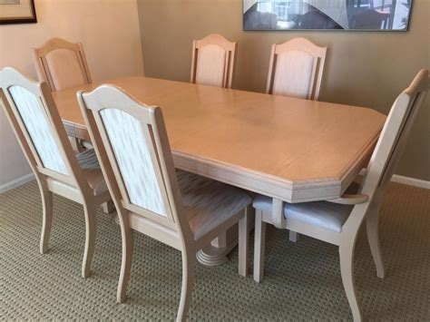 china cabinet dining table white oak dining room table 6 chairs china cabinet